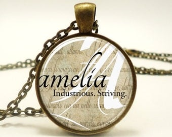 Custom Name Necklace, Handmade Personalized Name Jewelry (0723B1IN)