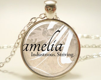 Custom Name Necklace, Handmade Personalized Name Jewelry, Personalized Memorial Jewelry (0726S1IN)