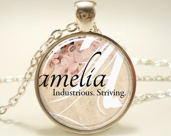 Custom Name Necklace, Handmade Personalized Name Jewelry (0728S1IN)