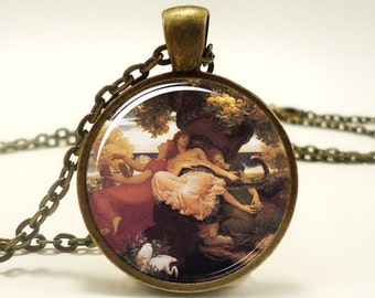 The Garden of the Hesperides Necklace, Artwork By Artist Frederic Leighton (0596B1IN)