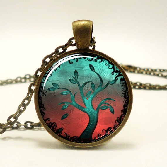 Tree Of Life Pendant, Woodland Jewelry, Bronze (0362B1IN)