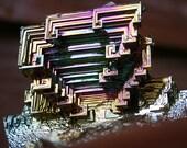 Acoustical Wave, Iridescent Bismuth Crystal Cluster