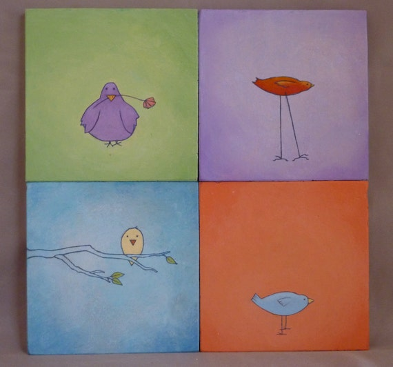 Colorful Bird Coasters