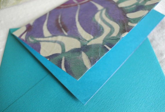 Japanese Katazome stencil dyed greeting card for early summer