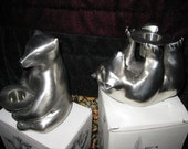 Restoration Hardware Taper Holders: Set of TWO Arctic Bears IOB RESERVED for Monica