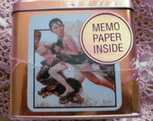 Norman Rockwell Memo Paper Tin Box in NEW condition Never opened.