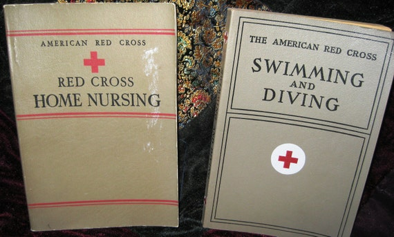 RED CROSS First Editions (Home Nursing 1942 & Swimming and Diving 1938)