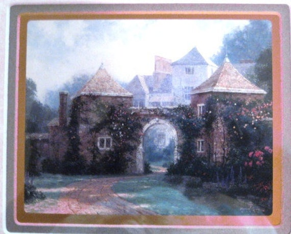 Kinkade Memories of England with Cert of Authenticity good