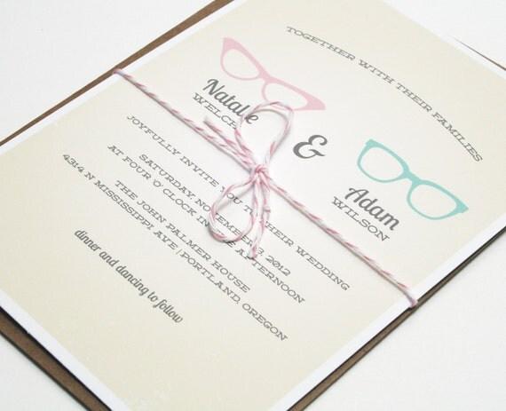 Wedding Invitations Vintage Geek Chic