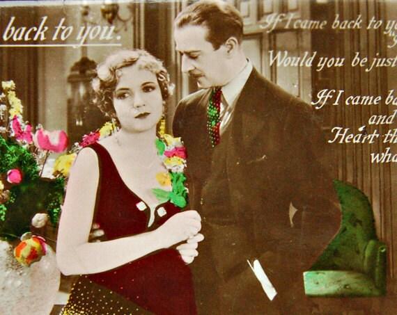 Movie Film Stars Postcard Lois Wilson H B Warner RPPC Talkie Song Series