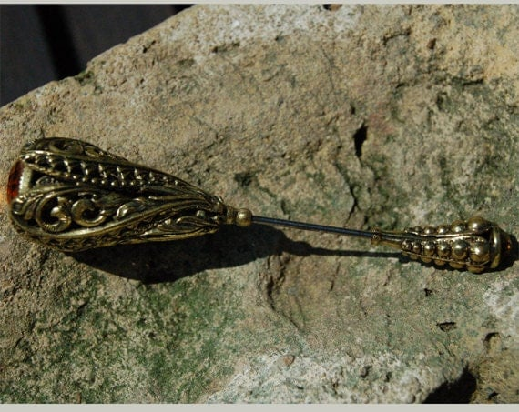 Antique Edwardian Art Nouveau hat pin stick pin