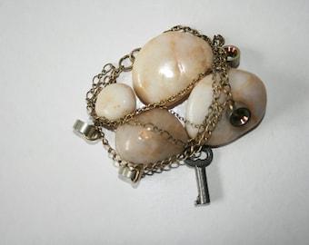 Steampunk Key Bracelet - Multichain Bracelet - The Secret Key