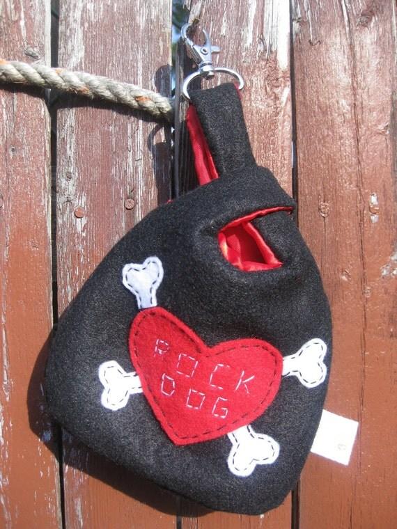 Dog Poop Bag Holder- Rock Dog