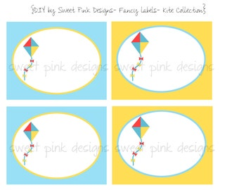 Printable Fancy Labels- Kite Collection