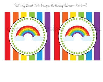 Happy Birthday Banner- Rainbow Collection