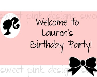 Printable Welcome Sign- Glamour Barbie Collection
