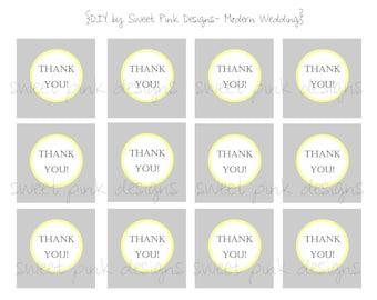 Printable Favor Tags- Modern Wedding Collection