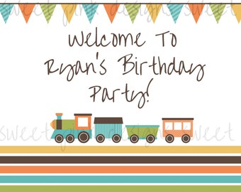 Printable Welcome Sign- Train Party Collection