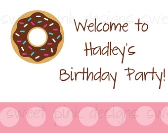 Donut Party Collection- Printable Welcome Sign