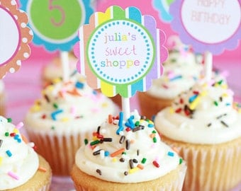 Lollipop Cupcake Toppers-Sweet Shoppe Collection