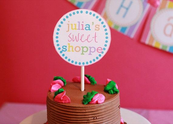 "Printable 4"" Circles- Lollipop Party Collection"