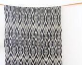 Ethical handwoven natural Ikat - Dark Gray 1/4 Meter RESERVED FOR YAMAZAKURA