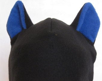 Cat Ear Hat--Black & Blue