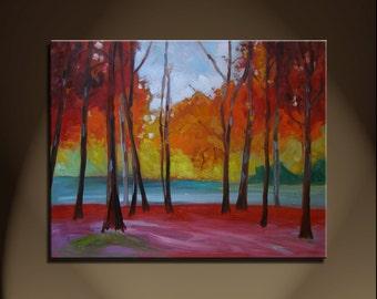 Large oil Painting Modern Original Art  Abstract Landscape Burke VA 2