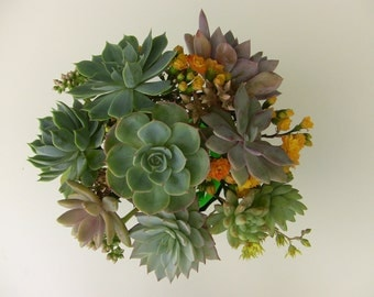 DIY Wedding Bouquet, DIY Succulent bouquet.