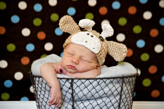 Custom Order Crochet Baby Giraffe Hat/photo prop