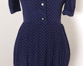 ON HOLD 1960s Vintage Polkadot Dress