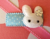 Easter Bunny Girls Snap Clip- Baby Girl Hair Bow- Kids barrettes-felt hair clip- Moonbeam Baby