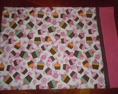 Cupcake Flannel Pillowcase