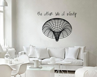 Science art astronomy - Black Hole vinyl wall decal for your lab classroom school university scientific decor (ID: 121033)
