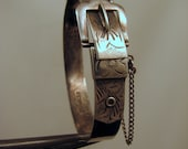 RESERVED for Janne -- Victorian Revival Sterling Buckle Bracelet -- small sized