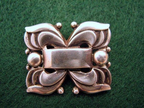 Vintage NORSELAND  by CORO Sterling Silver Brooch