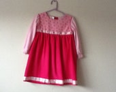 Lovely pink corduroy dress for 2 year old