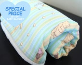 OPENING SPECIAL SALE, Baby Blanket, Winnie the Pooh and  Soft White Minky.