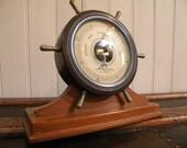 Vintage Airguide Barometer - Nautical - Maritime - Ship Wheel - NICE