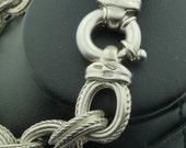 Jewelry sterling 925 Bracelet Hand made Montréal jeweler(very heavy)
