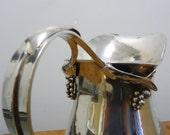 "Carl Poul Petersen  sterling  water pitcher  1945-1955 'NO  monogram"""
