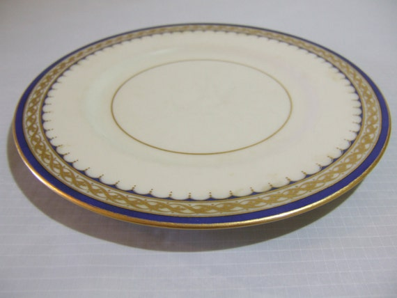 Vintage 1932 Lenox China - Small Plate with Gold Trim
