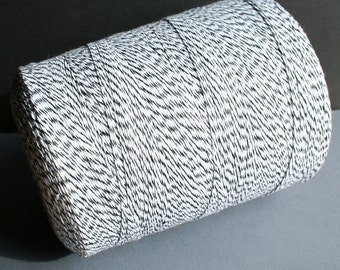 SALE - 100 Yards Black & White Baker's Twine