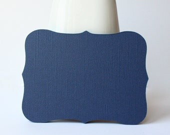 """24 Admiral Blue Top Notes / Journalling Spots / Place Settings - 3"""" x 4"""""""