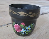 Vintage Nashco Metal Tole painted planter