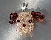 Swarovski Crystal Puppy Face Necklace