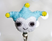 Blue Badger felt brooch - ace attorney phoenix wright nds - FREE SHIPPING