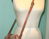 Authentic Dooney and Bourke vintage Taupe and Brown Cross Body Shoulder Bag