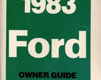 1983 Ford Owner's Manual FPS-365-10283-B