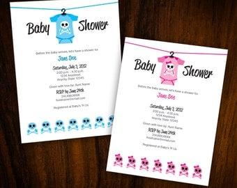 Baby Shower Invitation: Skull & Crossbones
